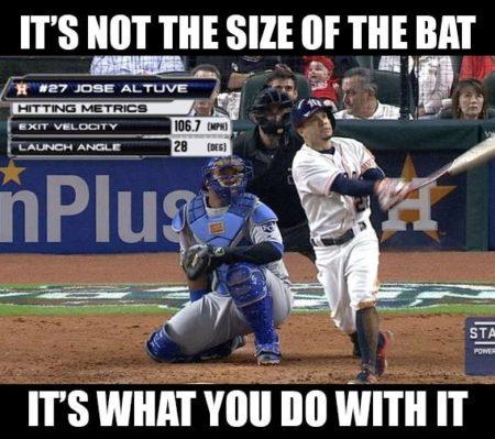 Meme O Random Jose Altuve S Launch Angle Foul Territory Baseball