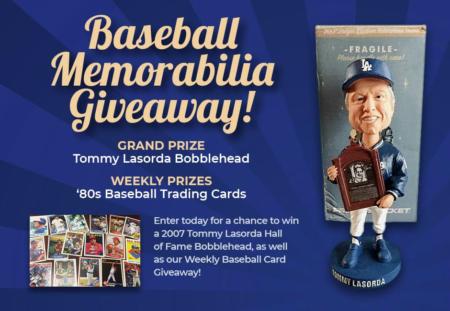 Baseball Memorabilia Giveaway Foul Territory Baseball